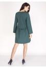 Zielona Sukienka z Falbanką w Talii