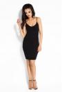 Czarna Sukienka Bodycon z Odkrytymi Plecami