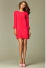 Wyjątkowa Różowa Sukienka z Dekoltem na Plecach