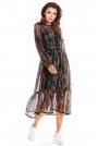 Zwiewna Wzorzysta Sukienka Szyfonowa -  Wzór 3