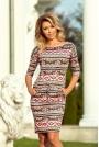 Sukienka Ściągana w Kolorowe Paski