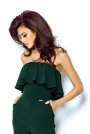 Elegancki Zielony Kombinezon Gorsetową Górą