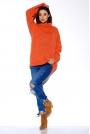 Rudy Oversziowy Sweter z Golfem