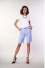 Spodnie przed Kolano z Szerokimi Nogawkami - Błękitne