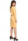 Żółta Sukienka z Gumką w Pasie