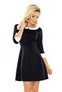 Czarna Sukienka z Białym Kołnierzykiem Bebe