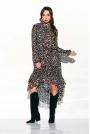 Zwiewna Sukienka Asymetryczna Z Falbankami we Wzory Druk 12