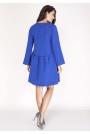 Kobaltowa Sukienka z Falbanką w Talii
