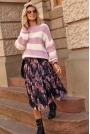 Tiulowa zwiewna Spódnica Midi w Kwiaty - Wzór 15