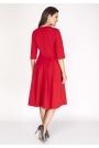 Czerwona Sukienka z Rozkloszowanym Dołem