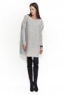 Jasnoszary Oversizowy Sweter z Kieszeniami