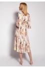 Kopertowa Sukienka w Tropikalne Liście