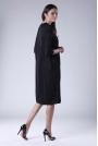 Czarna Oversizowa Casualowa Sukienka z Dekoracyjnym Marszczeniem