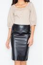 Klasyczna Elegancka Ołówkowa Spódnica w Kolorze Czarnym