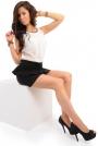 Czarna Mini Spódnica z Baskinką