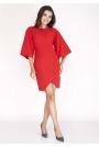Czerwona Sukienka Kopertowa z Hiszpańskim Rękawem