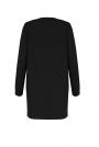 Czarny Pudełkowy Kobiecy Płaszcz bez Zapięcia