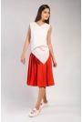 Czerwone Spódnico-Spodnie z Asymetrycznym Zapięciem