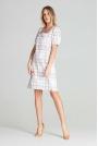 Prosta Sukienka z Kwadratowym Dekoltem - Wzór 111