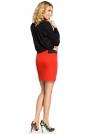 Czerwona Dopasowana Spódnica Mini z Elastycznymi Wstawkami