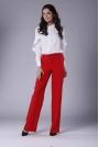Czerwone Eleganckie Spodnie z Prostymi Nogawkami.