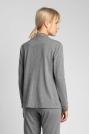 Bawełniana Koszula od Piżamy z Wypustkami  - Szara