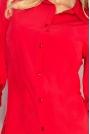 Czerwona Klasyczna Dopasowana Koszula