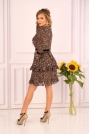 Sukienka z Falbankami z Wzorem