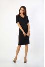 Czarna Klasyczna Ołówkowa Sukienka Open Shoulder