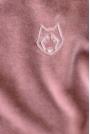 Spodnie Joggers z Welurowej Dzianiny - Różowe