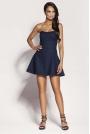 Granatowa Mini Sukienka z Odkrytymi Ramionami