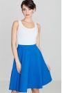 Niebieska Kobieca Rozkloszowana Spódnica