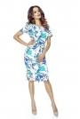 Sukienka Elegancka Mini z Plisą - Gałązki