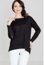 Czarny Sweter z Łatami na Rękawach