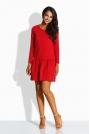 Czerwona Sukienka z Kokardą na Plecach