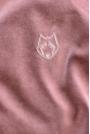 Pluszowa Bluza Haftem - Różowa