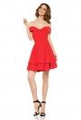 Czerwona Elegancka Imprezowa Sukienka z Odkrytymi Ramiona