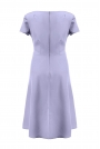 Jasno Niebieska Klasyczna i Elegancka Sukienka Midi