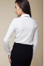 Elegancka Koszula z Kontrastową Lamówką - Biały