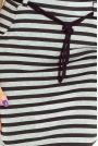Szaro-Czarna Spódnica Ołówkowa Midi z Ozdobnym Sznurkiem