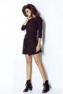 Czarna Sukienka w  Sportowym Stylu z Wiązanymi Troczkami