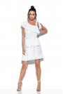 Biała Zwiewna Sukienka Wiązana na Jedno Ramię