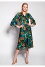 Kopertowa Sukienka w Bambus