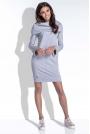 Szara Komfortowa i Kobieca Sukienka Mini