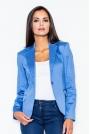 Niebieski Elegancki Żakiet o Klasycznym Kroju
