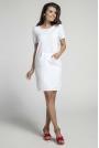 Biała Sportowa Sukienka z Kieszenią Kangurką