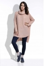 Morelowy Sweter Oversizowy z Luźnym Golfem