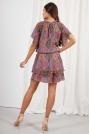 Urocza Dwuwarstwowa Sukienka we Wzory - Wzór 20