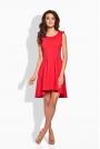 Rozkloszowana Asymetryczna Czerwona Sukienka