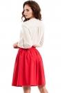 Czerwona Spódnica Midi z Plisowaniami